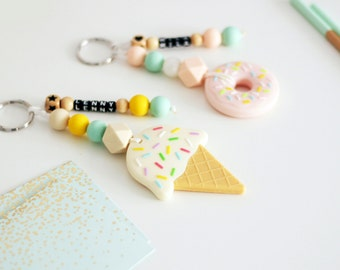 Ice or Donut bag charm