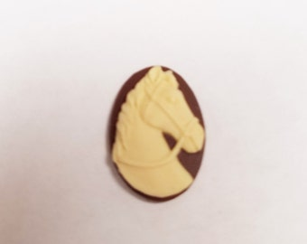5 Horse Head Cabochons 18mm X 25MM #161