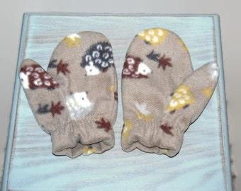 Hedgehog mittens, fleece mittens, kids mittens, childs mittens, warm mittens, winter mittens, winter gloves, gift from grandmother