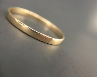 The Celestial Band: 3mm Half Round 14k Gold Wedding Band