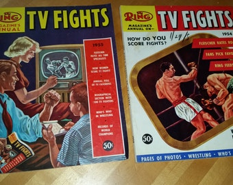 Ring Magazine TV Fights Annuals 1954, and 1955