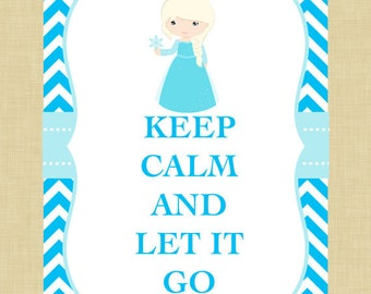 Elsa Keep Calm Art