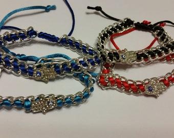 Chain Braided Evil Eye Bracelet (A13)