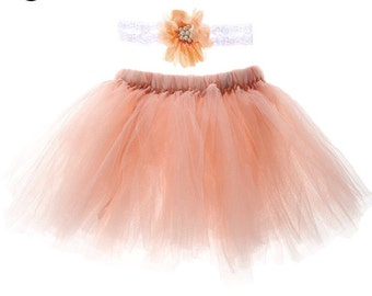 Princess coral tutu with matching headband