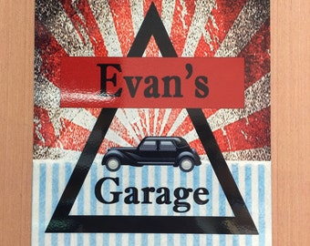 Customized Garage Signs - Add YOUR Name to the Sign