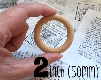2 inch wood teething ring