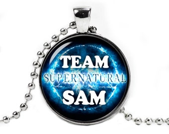 Team Sam Supernatural Necklace Pendant Fandom Jewelry Geeky Fangirl Fanboy