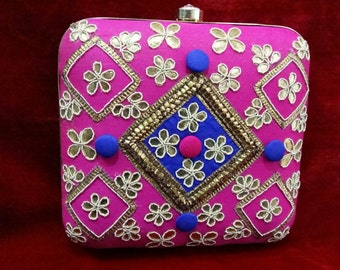 Pink Indian Clutch