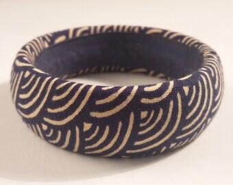 ethnic Japanese fabric bangle bracelet