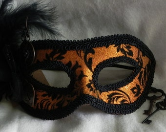 Steampunk Mask - Tempting Tigress - artist Robyn Ridout / Fantasy Faces