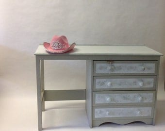 Over2hills  Upcycled Grey Pastel Dresser