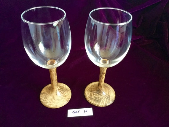 Eyeglass Frames Turning White : Wine glasses with Hand-Turned burned white by ...