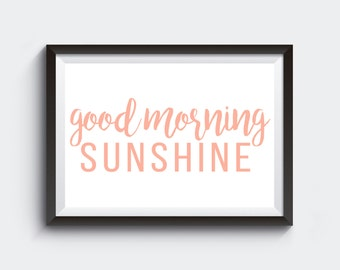 Good Morning Sunshine gallery wall art print digital download