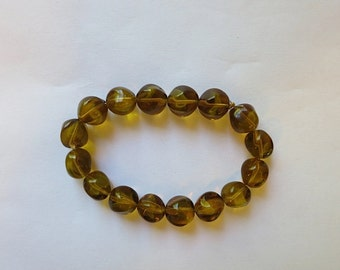 vintage german glass beads amber brown green