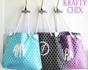 Stylish Summer Tote | Quatrefoil Pattern