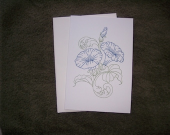 embroideredgreeting card