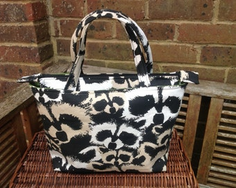 Shoulder canvas everyday tote bag raccoon face print new