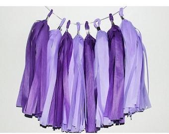 Purple rain tassel garland!