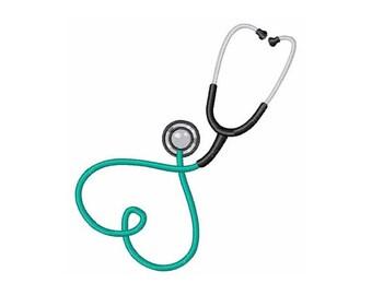 Heart Stethoscope - Machine Embroidery Design