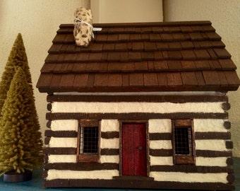 Log House, Cabin, Tabletop Log House, Primitive Decor, Log Cabin