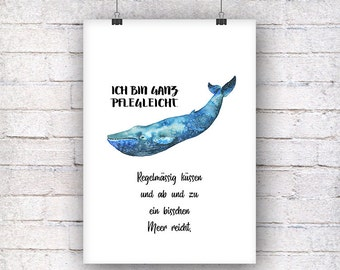 Whale easy to clean art print gift family art print, fine art print