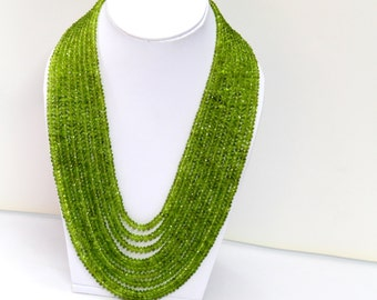 Peridot Natural gemstone Necklace