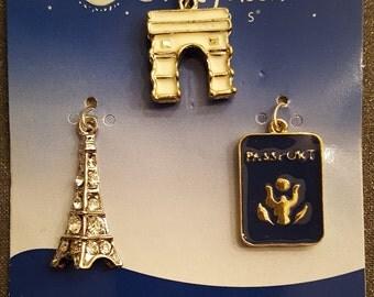 Metal Paris Charms