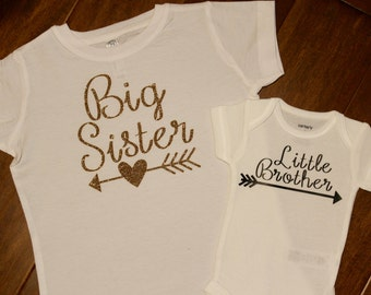 Big Sister shirt, little brother shirt, Big Sister, Little brother shirt set. Big Brother, Little Sister, Big Brother, Little Sister