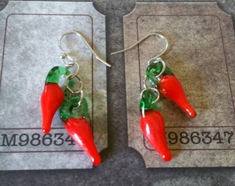 Hot pepper earrings