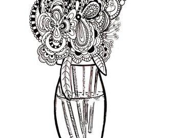 Paisley Vase