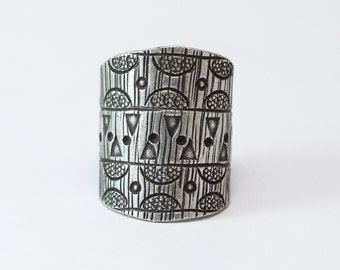 Ring Sterling Silver Pure Tribal Ethnic Bohemian Gypsy