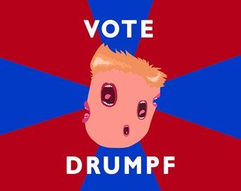 Vote Drumpf! - High quality art print
