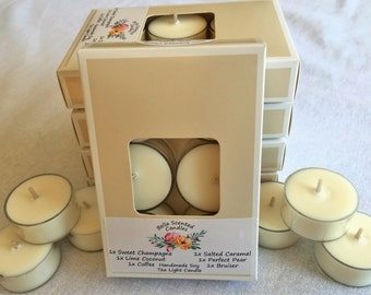 Scented Soy Tea Light Candles / Sample Packet