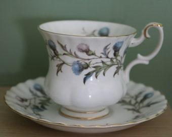 Royal Albert Brigadoon Tea Cup and Saucer