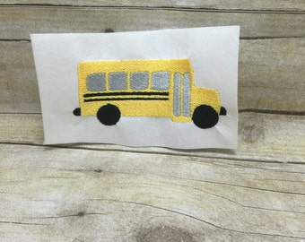 School Bus EMbroidery Design, Back To School Embroidery Design