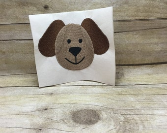 Dog Embroidery Design, Dog Face Embroidery Design