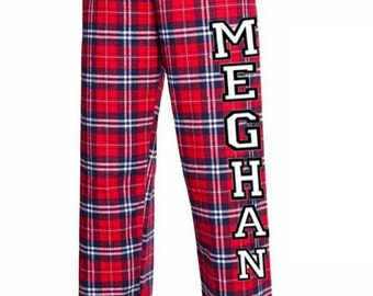 Personalized Pajama Pants, Customized Pajama Pants, Personalized PJ, Custom Flannel Pajama, Bridal Gift, Wedding Party Gift,