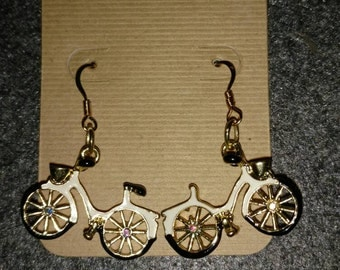 Bicycling earrings