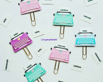 Typewriter Planner Paper Clip