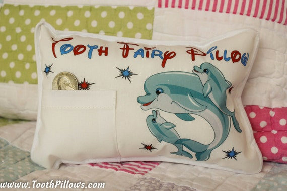 Animal Themed Personalized Tooth Fairy Pillow Tooth by KidsPillows