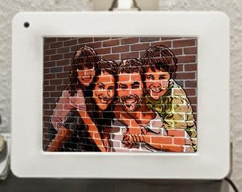 Family Portrait/ Mural - Personlized, Custom made, Printable Mural Effect Portrait