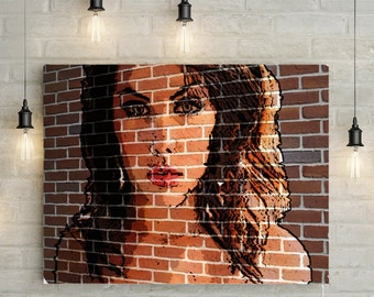 Custom Portrait/ Mural - Canvas Print or Printable Mural Effect Portrait