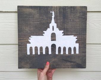 Handpainted Bountiful LDS Temple