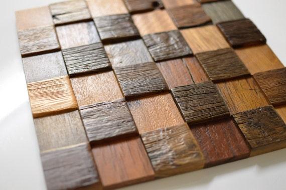 Revestimientos azulejos panel de mosaico de madera - Mosaico de madera ...