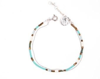 """Bracelet """"sea"""", miyuki, french-modern-folk"""
