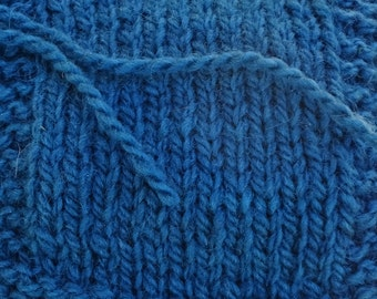 Teal 2 ply worsted weight wool kettle dyed  yarn from our farm