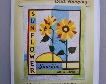 Sunflower Wall Hanging PATTERN