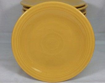 "Genuine Fiesta Yellow Multiple 6"" Bread & Butter Plates"