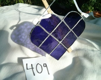 Purple Stained Glass Heart - #409