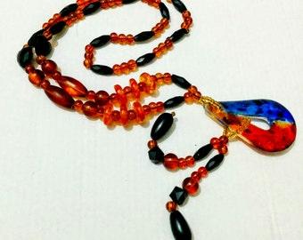Glass look alike bead set